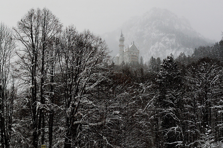 Perched over the town in a wintery, mystical snow scene is the best known tourist draw in Fussen.  Schloss Neuschwanstein, King Ludwig's dream castle, is  eccentric with features like a hidden cave grotto, a trap door dining table, and outrageous Rococo decor--completed in 1878. <br /> <br /> Hohenschwangau, the yellow palace that was the summer home of the Wittelsbach royal family and King Ludwig I spent much of his time there. It is the lesser known of the two tourist draws in Fussen<br /> The is a stop of the third century Roman route between Italy, Autria and Augsburg. Today Fussen is a stop on Bavarian bus tours to visit the castles and shop.