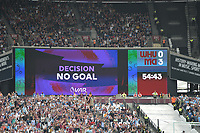Video Assistance being used  NO GOAL during West Ham United vs Manchester City, Premier League Football at The London Stadium on 10th August 2019