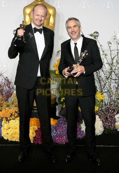 02 March 2014 - Hollywood, California - Mark Sanger, Alfonso Cuaron. 86th Annual Academy Awards held at the Dolby Theatre at Hollywood &amp; Highland Center. <br /> CAP/ADM<br /> &copy;AdMedia/Capital Pictures