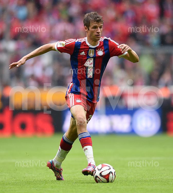 Fussball  1. Bundesliga  Saison 2014/2015   3. SPIELTAG FC Bayern Muenchen - VfB Stuttgart       13.09.2014 Thomas Mueller (FC Bayern Muenchen) am Ball