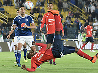 BOGOTA - COLOMBIA, 04-08-2018: Juan F Caicedo jugador del Medellín en acción durante el encuentro entre Millonarios y Deportivo Independiente Medellín por la fecha 3 de la Liga Águila II 2018 jugado en el estadio Nemesio Camacho El Campin de la ciudad de Bogotá. / Juan F Caicedo player of Medellin in action during the match between Millonarios and Deportivo Independiente Medellin for the date 3 of the Liga Aguila II 2018 played at the Nemesio Camacho El Campin Stadium in Bogota city. Photo: VizzorImage / Gabriel Aponte / Staff.