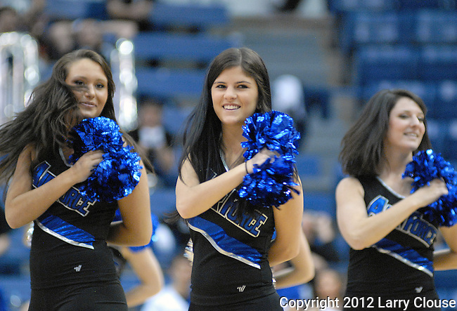 January 21, 2012:  Air Force Academy dance team during a Mountain West Conference match-up between the San Diego State Aztecs and the Air Force Academy Falcons at Clune Arena, U.S. Air Force Academy, Colorado Springs, CO.  San Diego State defeats Air Force 75-62.