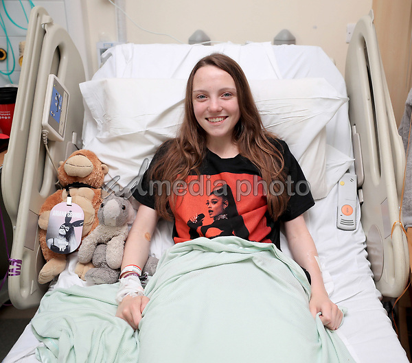 25 May 2017 - Millie Robson, 15, from Co Durham, iin the Royal Manchester Children's Hospital where she is being treated after the terror attack in the city earlier this week. Photo Credit: ALPR/AdMedia