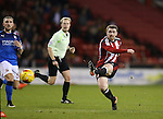 John Fleck of Sheffield Utd  has a shot on goal during the English League One match at Bramall Lane Stadium, Sheffield. Picture date: December 10th, 2016. Pic Simon Bellis/Sportimage