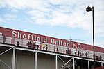 Sheffield United 1 Scunthorpe 1, 18/02/2017. Bramall Lane, League One. Sheffield United was formed in 1889 as an offshoot of Sheffield United Cricket Club. The club have played their home games at Bramall Lane since their formation in 1889. The match ended in a 1-1 draw between the two promotion rivals watched by an attendance of 27,980. Photo by Simon Gill.