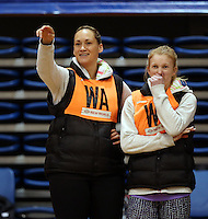 03.07.2014 Silver Fern Cathrine Latu and Shannon Francois in action during the Silver Ferns netball training session at the AUT in Auckland. Mandatory Photo Credit ©Michael Bradley.