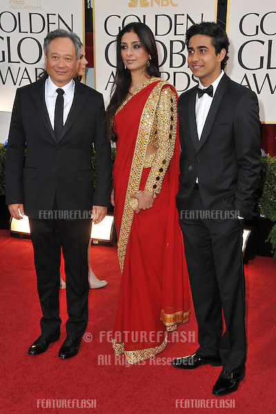 Ang Lee & Suraj Sharma at the 70th Golden Globe Awards at the Beverly Hilton Hotel..January 13, 2013  Beverly Hills, CA.Picture: Paul Smith / Featureflash