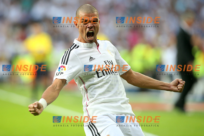 Real Madrid's Pepe celebrates goal during La Liga match.October 25,2014. (ALTERPHOTOS/Acero) <br /> Clasico<br /> Foto Insidefoto