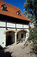 Deutschland, Sachsen-Anhalt, Geburtshaus von Luther in Eisleben, Unesco-Weltkulturerbe.Matin Luther's birthplace, world heritage