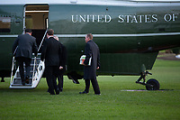 "Acting White House Chief of Staff and Director of the Office of Management and Budget (OMB) Mick Mulvaney walks to board Marine One at the White House in Washington D.C., U.S., on Thursday, November 14, 2019, as he travels with United States President Donald J. Trump for a ""Keep America Great"" rally in Bossier City, Louisiana.<br /> <br /> Credit: Stefani Reynolds / CNP/AdMedia"