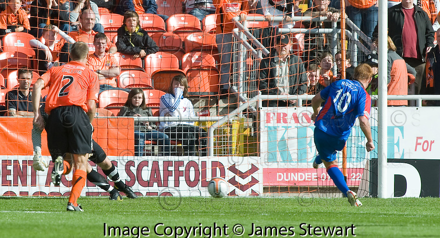 22/08/2010   Copyright  Pic : James Stewart.sct_jsp014_dundee_utd_v_ict  .:: ADAM ROONEY SCORES THE FOURTH FROM THE PENALTY SPOT :: .James Stewart Photography 19 Carronlea Drive, Falkirk. FK2 8DN      Vat Reg No. 607 6932 25.Telephone      : +44 (0)1324 570291 .Mobile              : +44 (0)7721 416997.E-mail  :  jim@jspa.co.uk.If you require further information then contact Jim Stewart on any of the numbers above.........