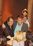 Directors Kenny Ortega (movie) and Jeff Calhoun (the musical) pose at the talk back  - The Newsies Fan Day at The Paper Mill Playhouse on October 2, 2010 in Millburn, New Jersey with current cast members and cast members of the film. It was a day of events to all devoted fans of Newsies - Radio Disney at 4 pm, executive reception for members of the original cast of Newsies (the movie) followed by a talkback, Q&A in the theater - all this followed by the evening performance of Newsies with the Curtain Call, old cast meets new cast and a cast photo of all. (Photo by Sue Coflin/Max Photos)
