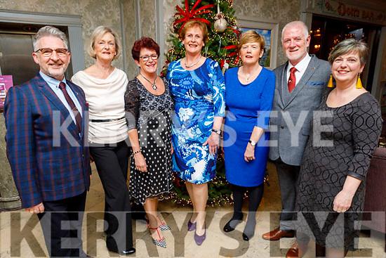 Timothy Schinnick, Geraldine Hayes, Ann Carey, Jean Murphy, Miriam Wells, Ger Hanlon and Jackie Joyce attending the Kerry GAA Medal Presentation in the Rose Hotel on Saturday night.