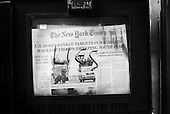 Madison, Wisconsin.USA.Apirl 6, 2003..Newspaper box defaced on the University of Wisconsin campus.