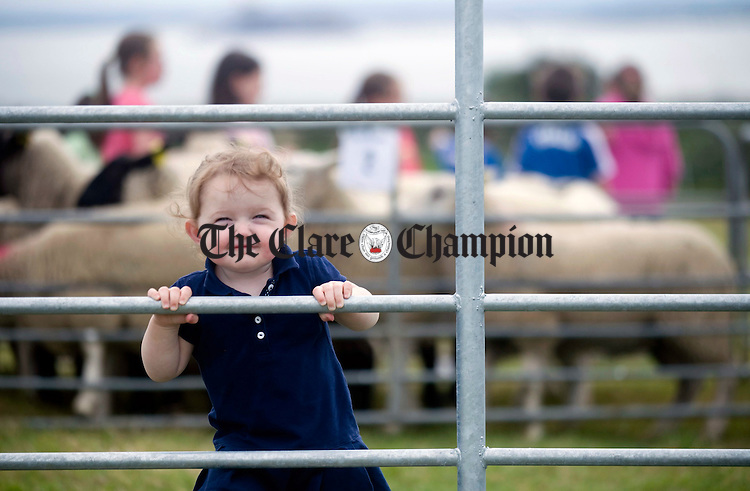 Lauren Conway smiles for the camera during the Kildysart Show at the weekend. Photograph by Declan Monaghan