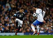 23rd March 2018, Etihad Stadium, Manchester, England; International Football Friendly, Italy versus Argentina; Mattia De Sciglio of Italy blocks the pass of Fabricio Bustos of Argentina