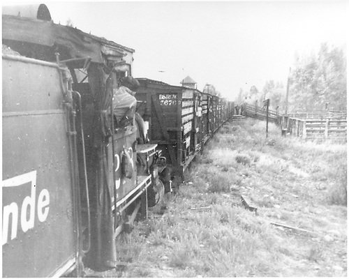 D&amp;RGW #278 pushing stock cars for loading sheep at Jack's Cabin.<br /> D&amp;RGW  Jack's Cabin, CO