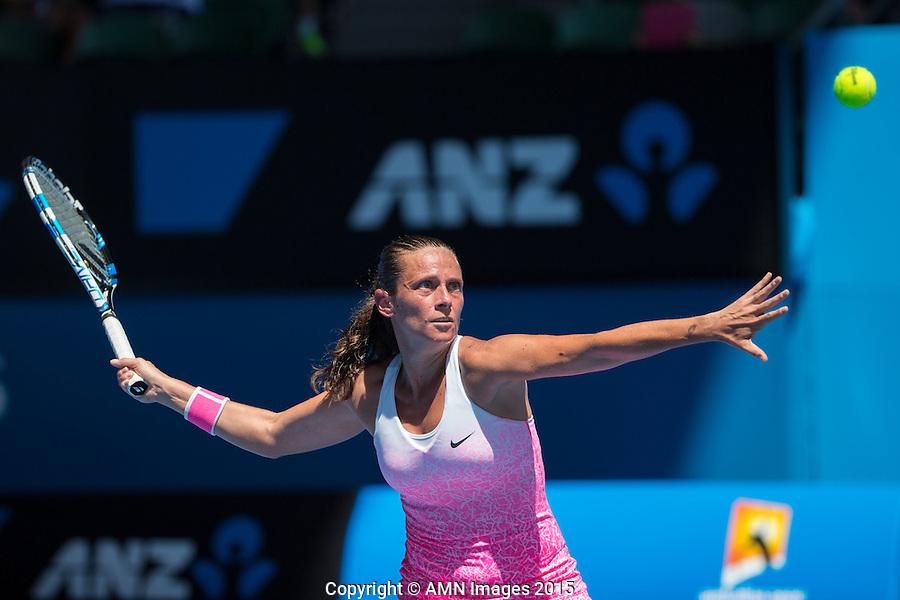 Roberta Vinci (ITA)<br /> <br /> Tennis - Australian Open 2015 - Grand Slam -  Melbourne Park - Melbourne - Victoria - Australia  - 21 January 2015. <br /> &copy; AMN IMAGES