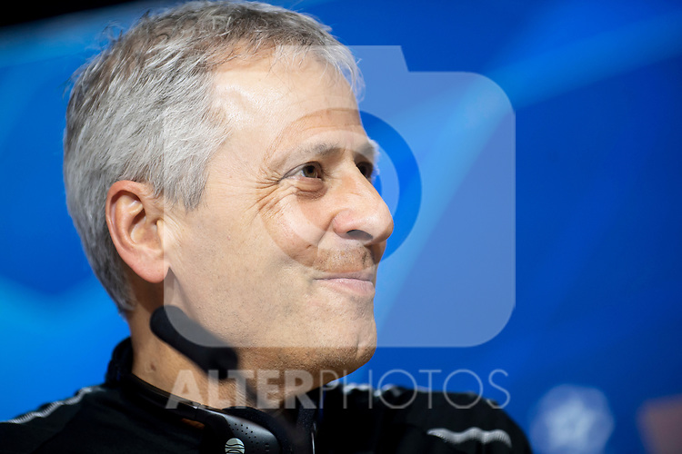 Borussia Dortmund coach Lucien Favre during press conference the day before UEFA Champions League match between Atletico de Madrid and Borussia Dortmund at Wanda Metropolitano in Madrid, Spain.November 05, 2018. (ALTERPHOTOS/Borja B.Hojas)