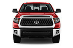 Car photography straight front view of a 2018 Toyota Tundra SR5 5.7L Double Cab Long Bed 4 Door Pick Up