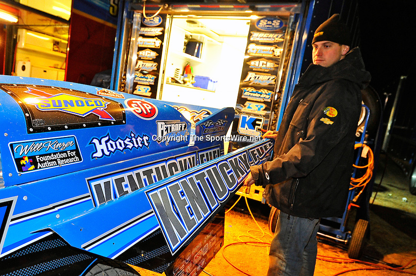 Feb 03, 2011; 8:20:17 PM; Sylvania, GA., USA; An Unsactioned Racing Event Running a 10,000 To Win During Speedweeks 2011 At Screven Motor Speedway.  Mandatory Credit: (thesportswire.net)