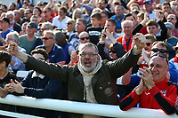 Woking fans celebrate during Woking vs Welling United, Vanarama National League South Promotion Play-Off Final Football at The Laithwaite Community Stadium on 12th May 2019