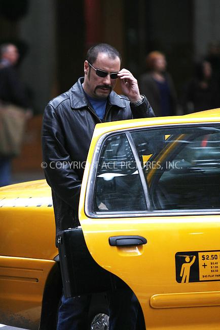 WWW.ACEPIXS.COM . . . . .  ....April 27 2008, New York City....Actor John Travolta on the set of the new movie 'The taking of Pelham 123' on Park Avenue in midtown manhattan.....Please byline: AJ Sokalner - ACEPIXS.COM..... *** ***..Ace Pictures, Inc:  ..te: (646) 769 0430..e-mail: info@acepixs.com..web: http://www.acepixs.com