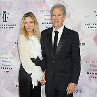 05 June 2019 - New York, New York - Michelle Pfeiffer and David E. Kelley. 2019 Fragrance Foundation Awards held at the David H. Koch Theater at Lincoln Center. Photo Credit: LJ Fotos/AdMedia