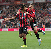 Bournemouth's Nathan Ake (left) celebrates scoring his side's third goal with Harry Wilson (right) but the goal was ruled out (no VAR needed)<br /> <br /> Photographer David Horton/CameraSport<br /> <br /> The Premier League - Bournemouth v West Ham United - Saturday 28th September 2019 - Vitality Stadium - Bournemouth<br /> <br /> World Copyright © 2019 CameraSport. All rights reserved. 43 Linden Ave. Countesthorpe. Leicester. England. LE8 5PG - Tel: +44 (0) 116 277 4147 - admin@camerasport.com - www.camerasport.com