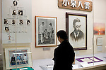 Visitors look around the Lafcadio Hearn museum in Matsue, Shimane Prefecture, Japan on 05 Nov. 2012. Photographer: Robert Gilhooly.