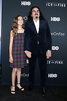 """LOS ANGELES - JUN 5:  Daughter, George DiCaprio at the """"Ice on Fire"""" HBO Premiere at the LACMA Bing Theater on June 5, 2019 in Los Angeles, CA"""