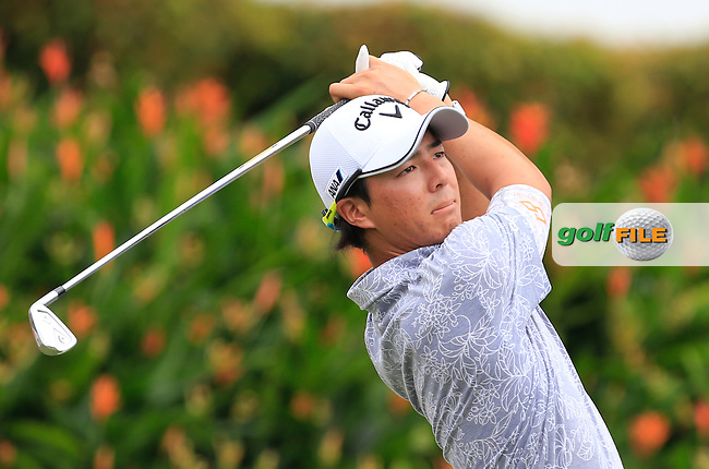 Ryo Ishikawa (JPN) on the 15th tee during Round 2 of the 2015 CIMB Classic at the Kuala Lumpur Golf &amp; Country Club in Malaysia on Friday 30/10/15.<br /> Picture: Thos Caffrey | Golffile