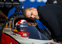 Feb 2, 2017; Chandler, AZ, USA; Jim Oberhofer crew chief for NHRA top fuel driver Doug Kalitta during Nitro Spring Training preseason testing at Wild Horse Pass Motorsports Park. Mandatory Credit: Mark J. Rebilas-USA TODAY Sports