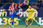 Filipe Luis of Atletico de Madrid (L) in action during the La Liga match between Atletico de Madrid vs Villarreal CF at the Estadio Vicente Calderon on 25 April 2017 in Madrid, Spain. Photo by Diego Gonzalez Souto / Power Sport Images