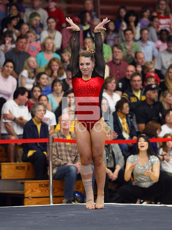 Stanford, CA; Sunday March 4, 2012: Women's Gymnastics, Stanford vs California vs Arizona.