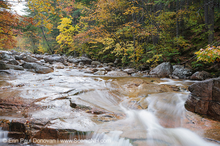 Otter Rocks day use area during the autumn months. Located along the Kancamagus Highway (route 112), which is one of New England's scenic byways in the White Mountains, New Hampshire USA
