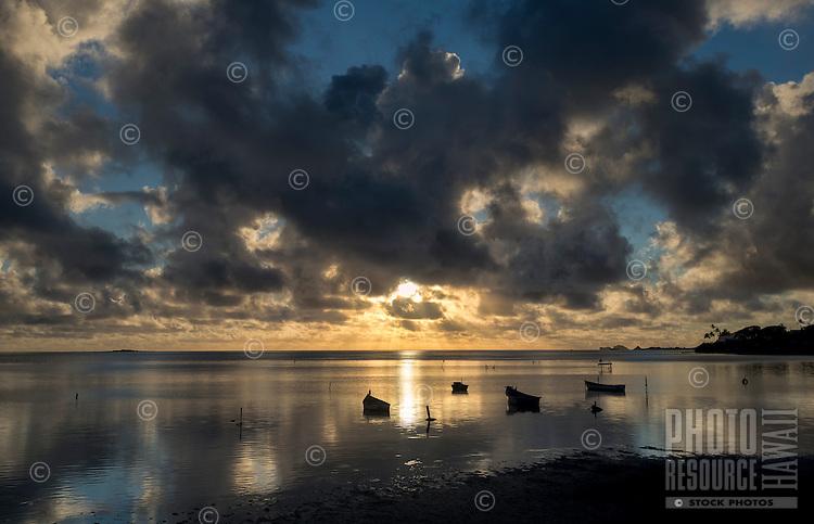 Sunrise over Kaneohe Bay, Windward O'ahu.