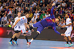 VELUX EHF 2017/18 EHF Men's Champions League Last 16.<br /> FC Barcelona Lassa vs Montpellier HB: 30-28.<br /> Kamil Syprzak.