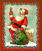 GIORDANO, CHRISTMAS SANTA, SNOWMAN, WEIHNACHTSMÄNNER, SCHNEEMÄNNER, PAPÁ NOEL, MUÑECOS DE NIEVE, paintings+++++,USGI1562A,#X#