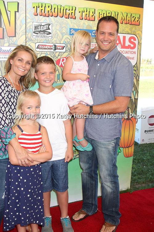 LOS ANGELES - OCT 9:  Kelly Packard, Dallin Privett, Halle Privett, Aubrey Lin Privett, Darrin Privett at the Celebrities Salute the Military at Corn Maze at the Big Horse Feed and Mercantile on October 9, 2015 in Temecula, CA
