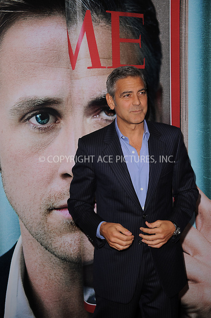 WWW.ACEPIXS.COM . . . . . .October 5, 2011...New York City....George Clooney attends the premiere of 'The Ides of March' at the Ziegfeld Theater on October 5, 2011 in New York City....Please byline: KRISTIN CALLAHAN - ACEPIXS.COM.. . . . . . ..Ace Pictures, Inc: ..tel: (212) 243 8787 or (646) 769 0430..e-mail: info@acepixs.com..web: http://www.acepixs.com .