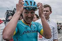 Michael Valgren Andersen (DEN/Astana) after winning the 53th Amstel Gold Race (1.UWT)<br /> <br /> 1 Day Race: Maastricht &gt; Berg en Terblijt (263km)