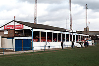 The main stand at Erith & Belvedere FC Football Ground, Park View, Lower Road, Belvedere, Kent, pictured on 30th January 1994