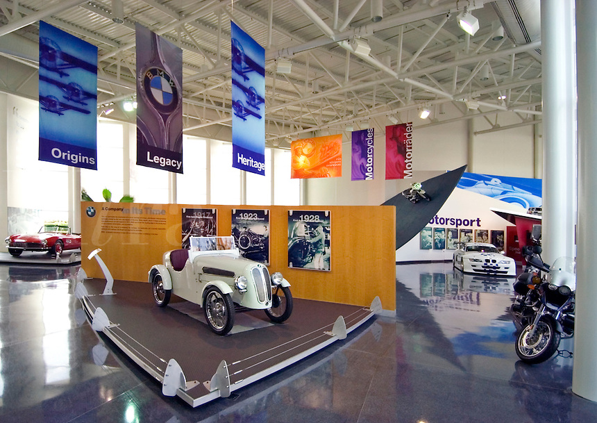 Interior display at the BMW museum, at the BMW manufacturing facility in Greenville, SC .