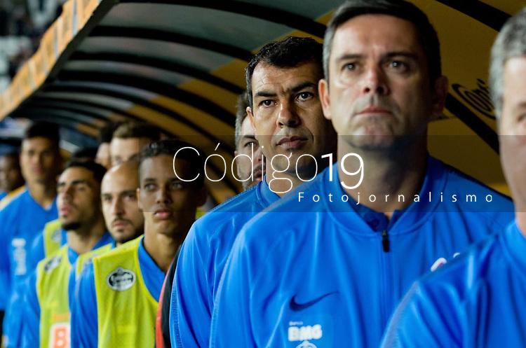 SÃO PAULO, SP, 15.05.2019: CORINTHIANS - FLAMENGO - Fábio Carille (técnico) do Corinthians durante partida entre Corinthians (SP) e Flamengo (RJ), no jogo de ida das oitavas de final da Copa do Brasil, quarta-feira (15) na Arena Corinthians em São Paulo. (Foto: Maycon Soldan/Código19)