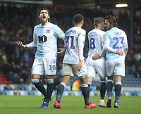 Blackburn Rovers Danny Graham celebrates scoring his sides first goal <br /> <br /> Photographer Mick Walker/CameraSport<br /> <br /> The EFL Sky Bet Championship - Blackburn Rovers v Ipswich Town - Saturday 19 January 2019 - Ewood Park - Blackburn<br /> <br /> World Copyright © 2019 CameraSport. All rights reserved. 43 Linden Ave. Countesthorpe. Leicester. England. LE8 5PG - Tel: +44 (0) 116 277 4147 - admin@camerasport.com - www.camerasport.com