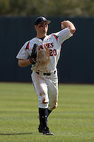 Aaron Brown #20 of the Pepperdine Waves during a game against the Texas A&M Aggies at Eddy D. Field Stadium on March 23, 2012 in Malibu,California. Texas A&M defeated Pepperdine 4-0.(Larry Goren/Four Seam Images)