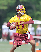 Ashburn, VA - August 4, 2009 -- Quarterback Jason Campbell (17) participates in passing drills during the 2009 Washington Redskins training camp at Redskins Park in Ashburn Virginia on Monday, August 4, 2009..Credit: Ron Sachs / CNP