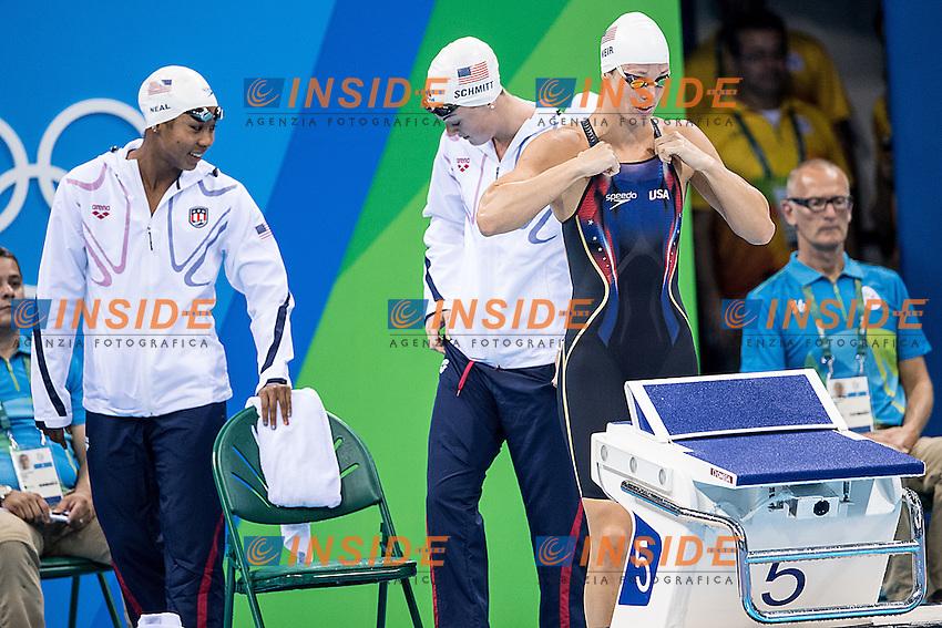 Team Usa<br /> 4x100 freestyle women relay<br /> Rio de Janeiro 06-08-2016 XXXI Olympic Games <br /> Olympic Aquatics Stadium <br /> Swimming heats 06/08/2016<br /> Photo Giorgio Scala/Deepbluemedia/Insidefoto