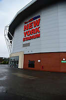 A general view of The AESSEAL New York Stadium, home of Rotherham United<br /> <br /> Photographer Andrew Vaughan/CameraSport<br /> <br /> The Carabao Cup First Round - Rotherham United v Lincoln City - Tuesday 8th August 2017 - New York Stadium - Rotherham<br />  <br /> World Copyright &copy; 2017 CameraSport. All rights reserved. 43 Linden Ave. Countesthorpe. Leicester. England. LE8 5PG - Tel: +44 (0) 116 277 4147 - admin@camerasport.com - www.camerasport.com